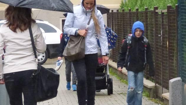 První školní den na ZŠ Dukelská v Českých Budějovicích.
