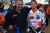 Martin Finěk (Vpravo) se svým otcem a Eduardem.