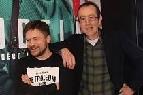 Jiří Mádl přijel domů do Českých Budějovic představit film Modelář, v němž hraje, i s režisérem a scenáristou Petrem Zelenkou.