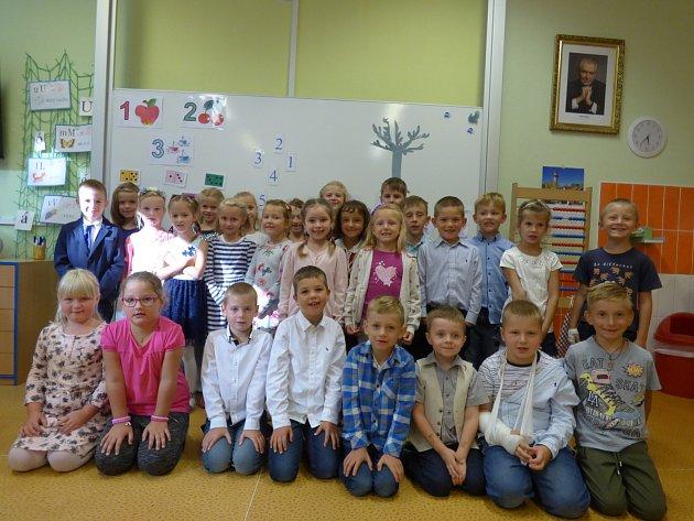Představujeme prvňáky ze Základní školy vHluboké nad Vltavou -1.B