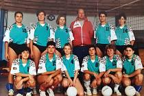 Volejbalové týmy Meteoru České Budějovice, které vedl Jaroslav Pešek