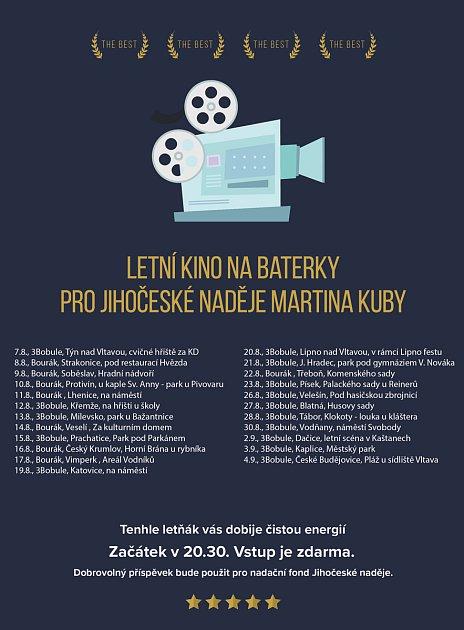Program letního kina na baterky.