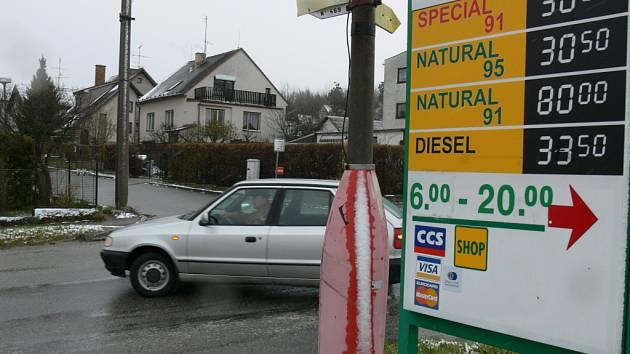 Jednu z nevyšších cen za litr dieselu nabízí čerpací stanice Čepro na Včelné u Českých Budějovic.