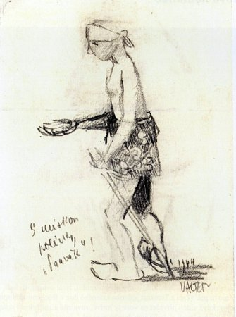 Vknize Ostnaté vzpomínky vzpomíná malíř Karel Valter (1909 - 2006) na nejhorší část svého života, nacistickou okupaci a své věznění vTáboře, Terezíně a Buchenwaldu. Na snímku kresba Smiskou polévky 'Pravěk'.