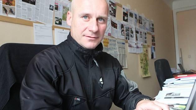 Miroslav Lidinský v redakci Deníku.