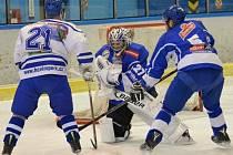 Vimperští hokejisté porazili v Krajské lize Tábor B 6:1 a stále mohou pomýšlet na play off.