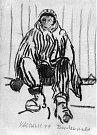 V knize Ostnaté vzpomínky vzpomíná malíř Karel Valter (1909 - 2006) na nejhorší část svého života, nacistickou okupaci a své věznění v Táboře, Terezíně a Buchenwaldu. Na snímku kresba Vězeň.