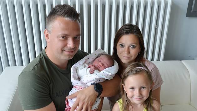 Sofie Volavková z Písku. Dcera Lenky Vlnaté a Vojtěcha Volavky se narodila 22. 6. 2021 v 18.04 hodin. Při narození vážila 3650 g a měřila 49 cm. Doma se na sestřičku těšila Terezka (5).