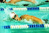 Brněnská Pechanová při Velké ceně Č. Budějovic vytvořila na 1500 metrů kraul časem 16:45,17 rekord bazénu.