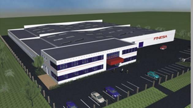 Plánovaná průmyslová zóna.