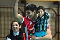 Venezuelan Andy Rojas s rodinou