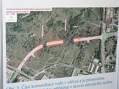 Původní návrhy na spojnici mezi ulicemi Milady Horákové a Strakonická v Českých Budějovicích.