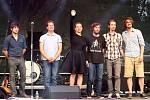 Lenka Nová a její kapela v Maříži na Slavonice Festu.