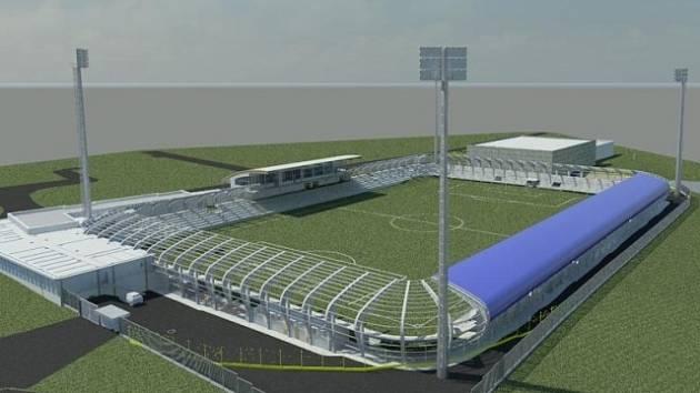 Plánovaná podoba stadionu v Táboře.
