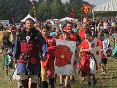 V sobotu u Borovan dobývali malí bojovníci Slamburk