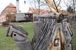 Betonový dům Prvok je v Safariresortu Hluboká u Borovan