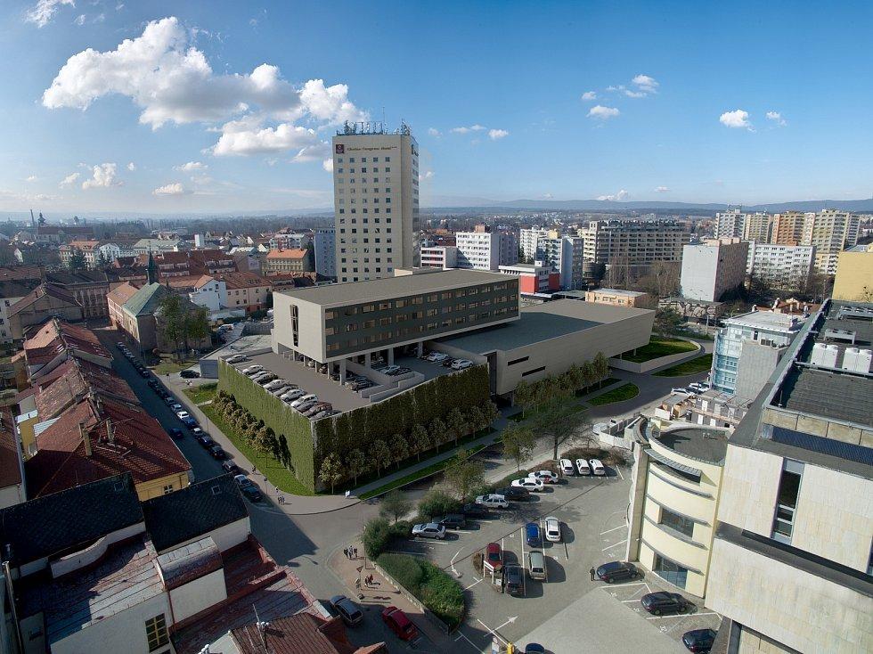 V sousedství současného objektu českobudějovického hotelu Clarion se chystá stavba nového kongresového sálu až pro 800 návštěvníků, nad kterým vznikne ve třech patrech dalších 75 moderních pokojů.