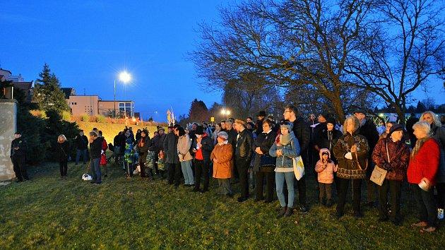 Připomínka 17. listopadu v Týně nad Vltavou