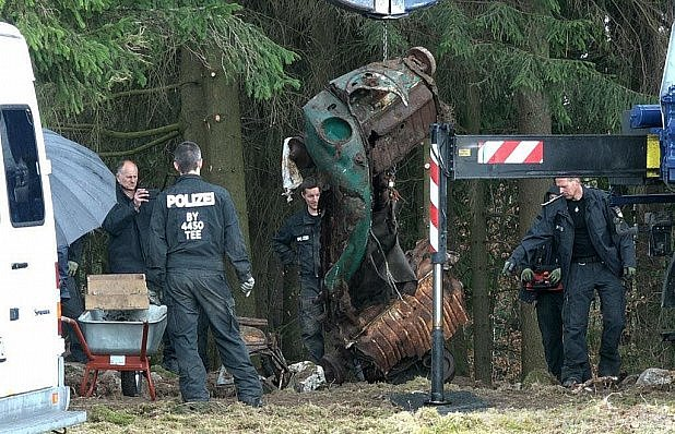 Bavorská policie při práci.