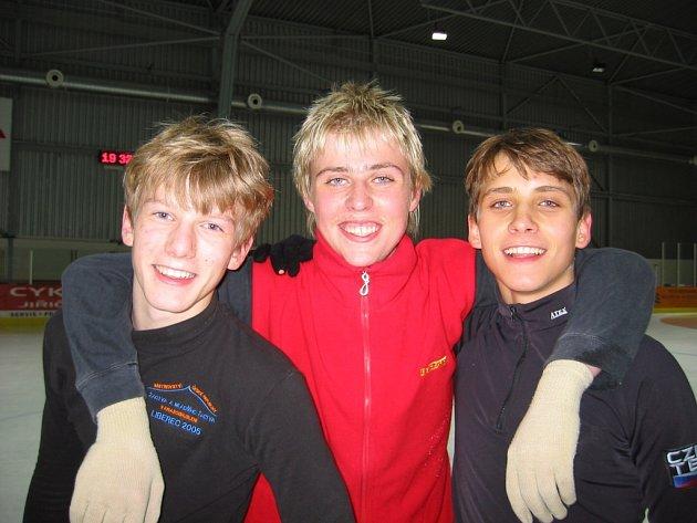 Pořádající BK České Budějovice vyšle do boje o juniorské vavříny na domácím šampionátu hned trio závodníků – Miroslava Dvořáka, Leo Nowického a Petra Bidaře (zleva).