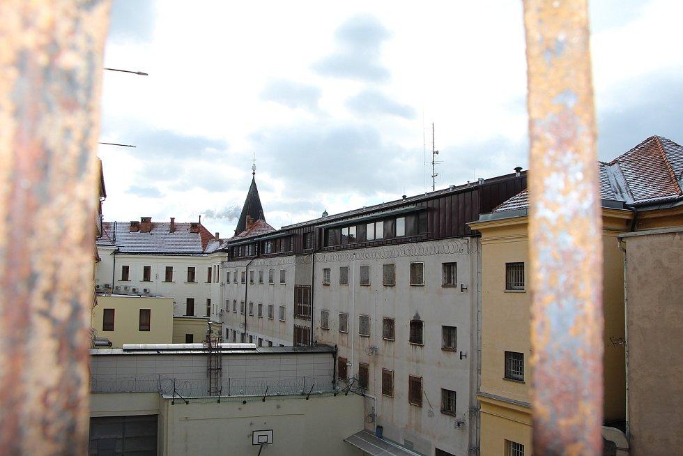 Pohled na půdní nástavbu z centrální části věznice.