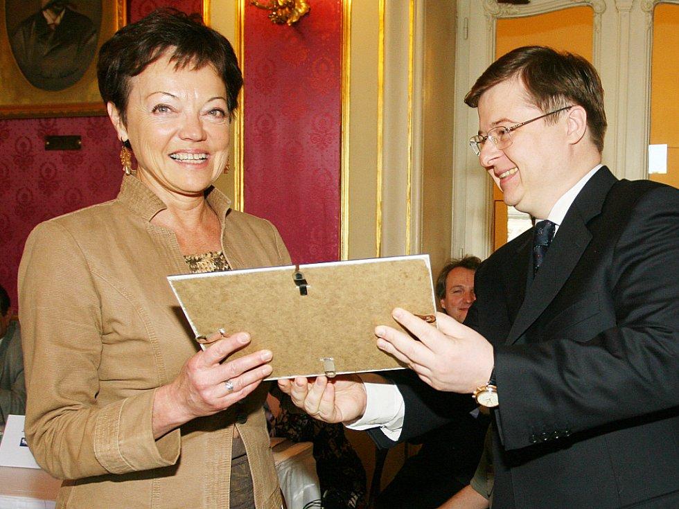 Víceprezident ruské státní kororace TVEL Konstantin Sokolov a šéfová baletu JD Libuše Králová.