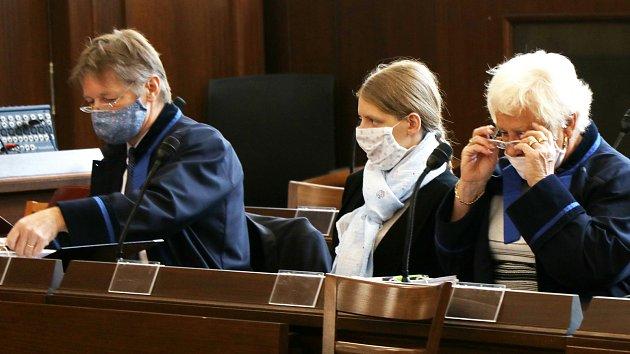 Rozsudek za vraždu dítěte u Krajského soudu v Českých Budějovicích.