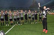 Fotbalisté Dynama v sobotním šlágru II. ligy porazili Opavu 2:1 a vystřídali ji v čele tabulky.
