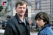 Záběr z filmu Tichý společník, který se natáčel v Českých Budějovicích.