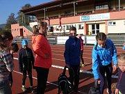 Zuzana Hejnová na atletickém kempu v Sušici