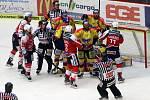 Z utkání 11. kola baráže o hokejovou extraligu ČEZ Motor České Budějovice - HC Dynamo Pardubice v českobudějovické Budvar Aréně.
