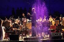 Múzy na vodě 2014. Vystoupení Jihočeské komorní filharmonie a Marka Novotného Quintet.