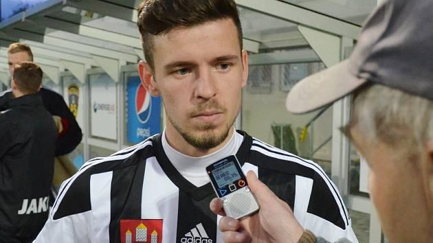Filip Vaněk po zápase Dynama s Hradcem Králové odpoídá na dotazy Deníku jižní Čechy.