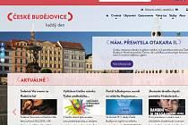 Náhled úvodní strany portálu inbudejovice.cz.