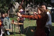 Olešnice nabídla i lukostřelbu.