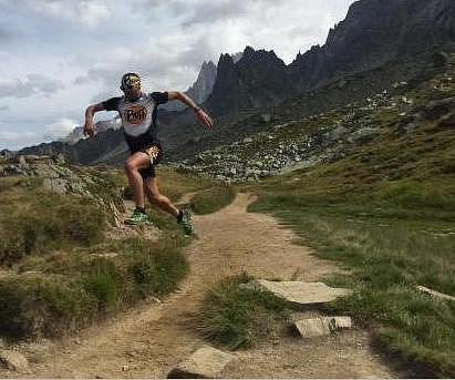 Běžel kolem Mt. Blanku.