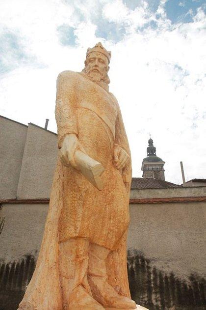 František Postl představil model sochy Přemysla Otakara II., kterou chce darovat městu České Budějovice.
