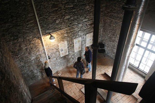 Interiér Vodárenské věže vČeských Budějovicích.