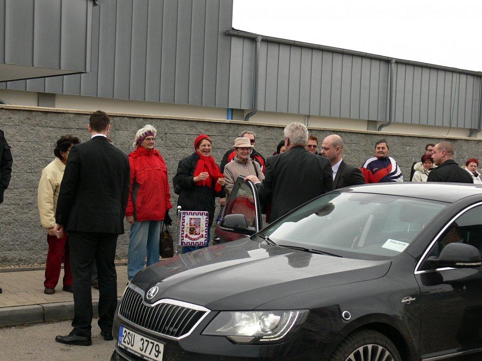 Návštěva Miloše Zemana v Táboře.