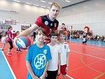Mezi děti dorazily do školy volejbalové hvězdy