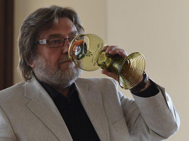Spisovatel a scénárista Jan Míka, držitel ceny Číše Petra Voka.