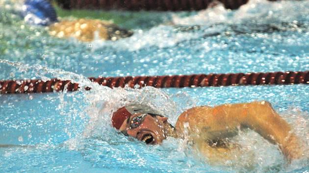 Karel Baloun si plave pro stříbro v polohovém závodě na zimním mistrovství republiky v Českých Budějovicích.