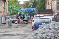 Rekonstrukce Mánesovy ulice v Českých Budějojovicích.