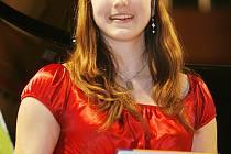 Tereza Nedvědová, vítězka kategorie přírodovědné nad 15 let.