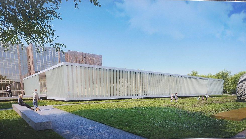Stavba nového křídla Jihočeské vědecké knihovny na Lidické začala. Vybrána byla při výběrovém řízení firma OHL ŽC. Reprofoto Deník