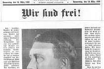 Budweiser Zeitung, 16. března 1939