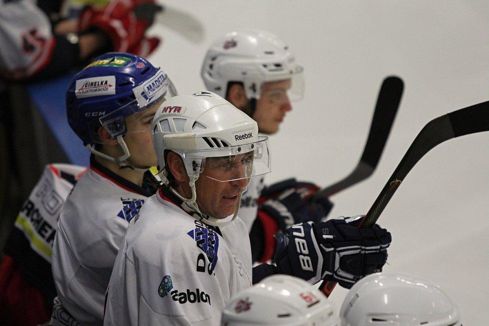 V utkání druhé hokejové ligy vyhrál českobudějovický David servis nad Příbramí 4:2.