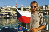 David Křížek představil v Budějovicích knihu o své plavbě Atlantikem.