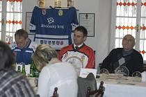Na předturnajové tiskovce zleva hlubocký starosta Tomáš Jirsa, jihočeský hejtman Jiří Zimola a ředitel turnaje Zdeněk Kaucký.