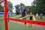 V pátek 10. srpna bylo otevřeno první českobudějovické workoutové hřiště.
